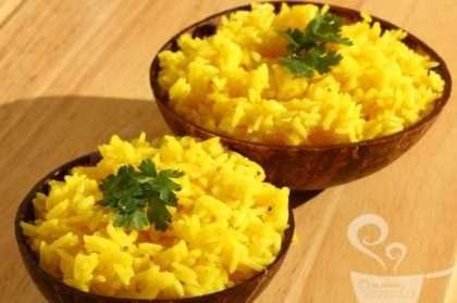 Resultado de imagem para arroz com açafrao