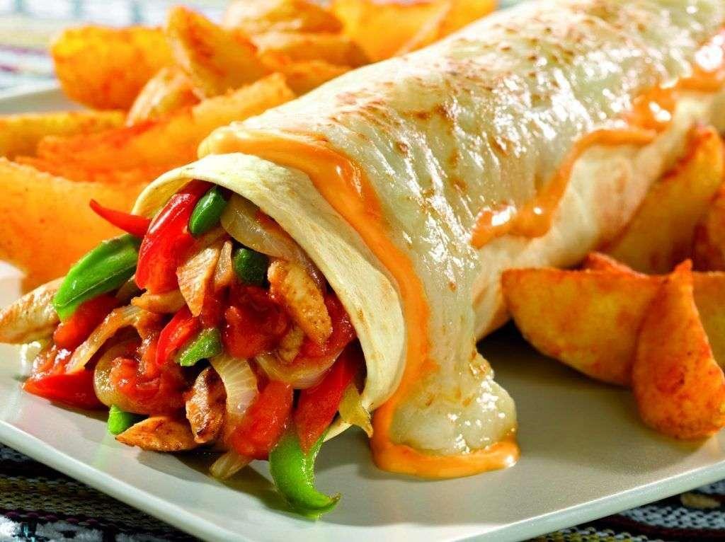 Burritos com chedar