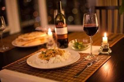 jantar romantico ementa